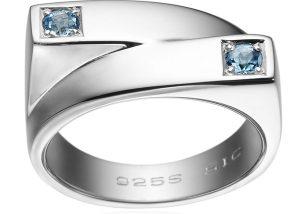 hvidguld ring med akvamariner